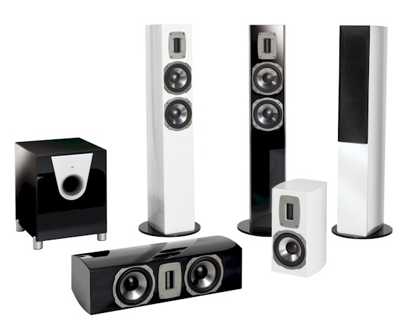quadral chromium style 5 1 set schwarz hochglanz. Black Bedroom Furniture Sets. Home Design Ideas